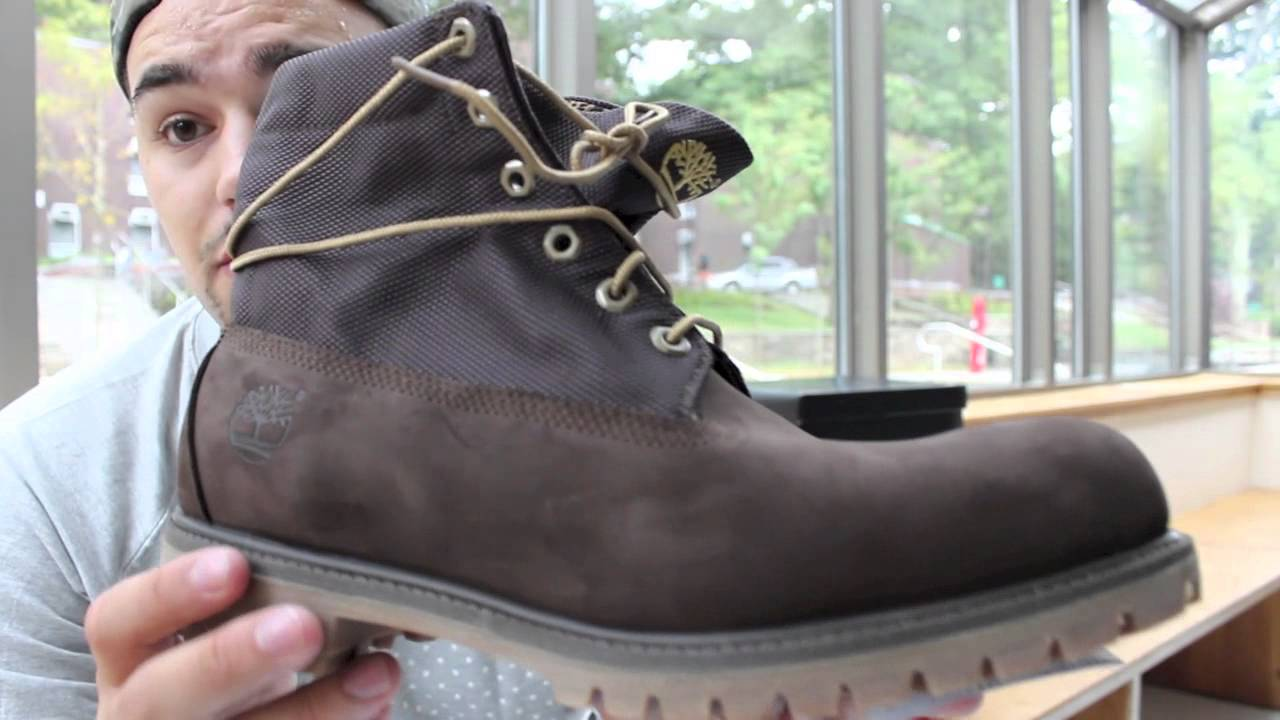 46be6990093cd1 Roll Top Timberland Boot On Feet Review - YouTube