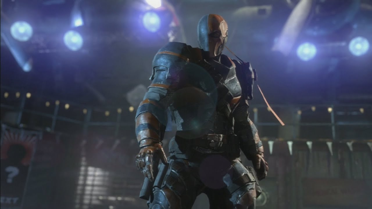 Iphone X Default Wallpaper Hd Batman Arkham Origins Deathstroke Boss Fight Hd Youtube