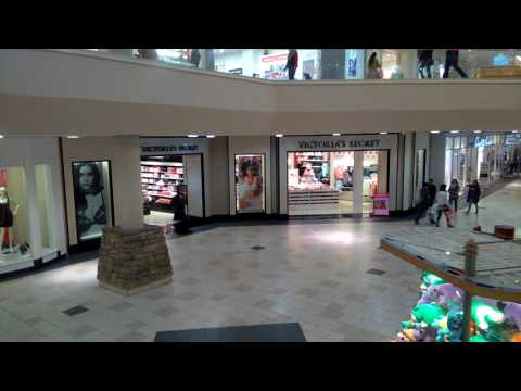 Walking inside the Aurora Town Center Mall in Aurora, CO
