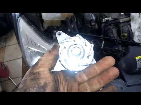Замена помпы Ford focus2 1 8 125л c , атакже замена ролика ремня генератора на ролик с натежителем