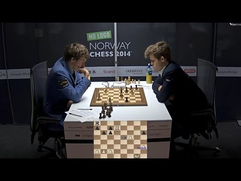 ♚ Sergey Karjakin vs Magnus Carlsen ★ Round 6 Norway Chess ★ June 9 2014