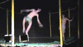 Night Edit | Trampoline, Diving, and Slip and Sliding!