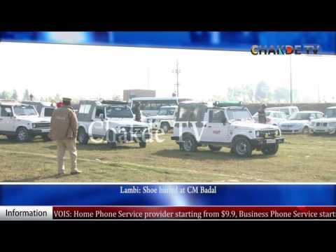 Shoe Thrown at Punjab CM Parkash Singh Badal
