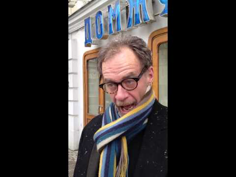 New York Times Journalist David Carr in Moscow