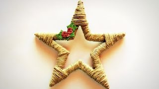 Przepiękna gwiazda ze sznurka