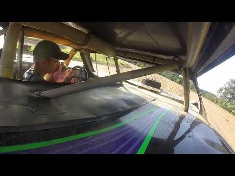 Sierra rides in racecar at Latrobe