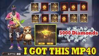 I Got New Incubator Gold MP40 | Free Fire Incubator Gold MP40 Tricks Tamil | Gaming Tamizhan