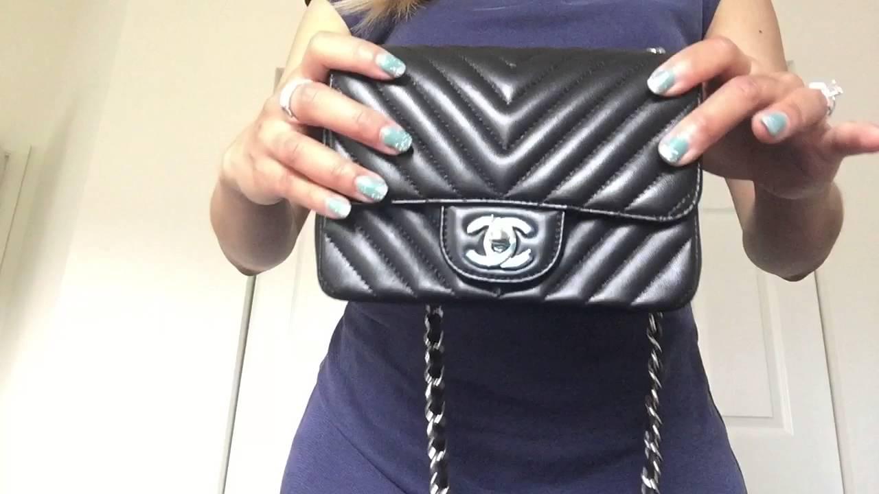 99ef5ded3666 Chanel Chevron Mini Flap Bag - YouTube