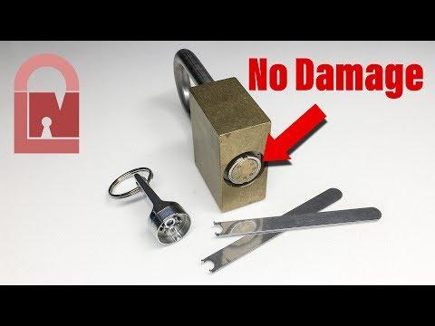 (519) High Security VAN Lock Padlock Picked - Easy Tools and NO Damage