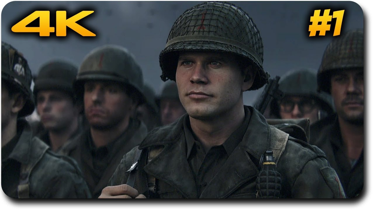 Call of duty ww2 playthrough ps4 pro 4k gameplay d day - Is cod ww2 4k ...