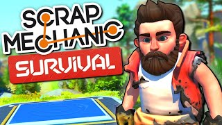 Surviving on a Robot-Infested Planet in Scrap Mechanic SURVIVAL MODE - Scrap Mechanic Survival