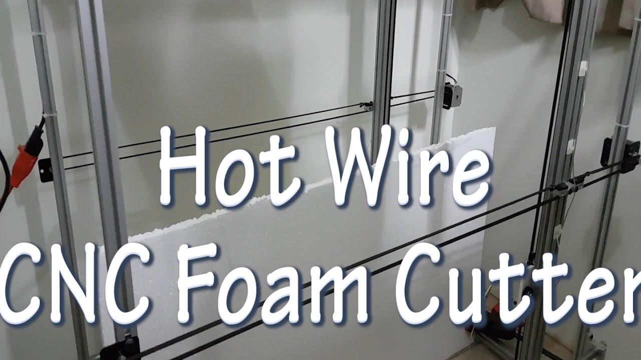 Hot Wire CNC foam cutter - Cutting poliestirene letters - YouTube