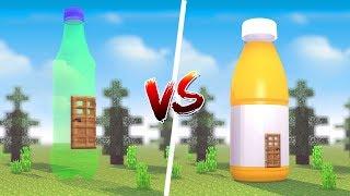 Minecraft: CASA DE REFRIGERANTE VS CASA DE SUCO ‹ JUAUM ›