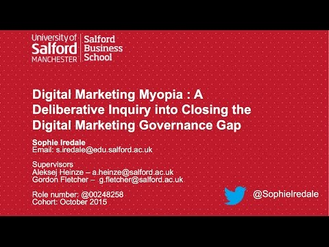 Sophie Iredale PhD Interim Assessment - University of Salford Business School