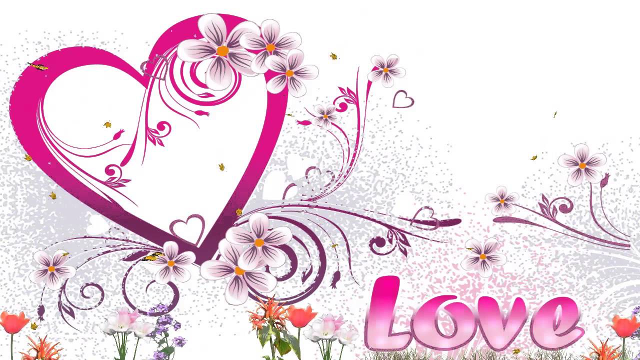 Love Animated Wallpaper Include Beautiful Flower Butterfly