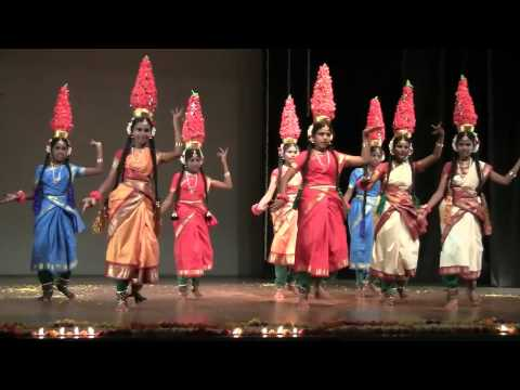 Karagattam by Usha students from Akiyam School