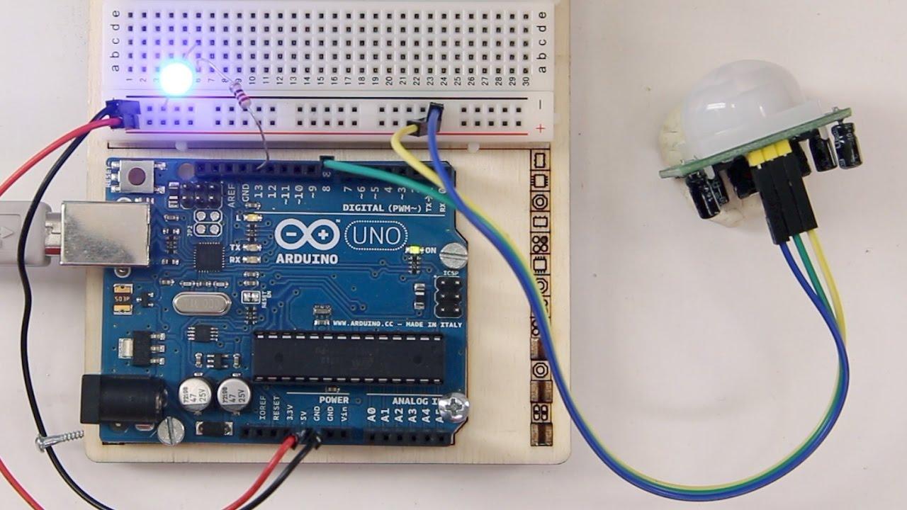 pir motion sensor    bewegungsmelder am arduino
