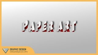 Graphic Design | Text Effect Paper Cut | Illustrator Tutorials
