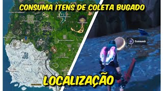 Fortnite: CONSUME COLLECTION ITEMS BUGADO on the MAP!