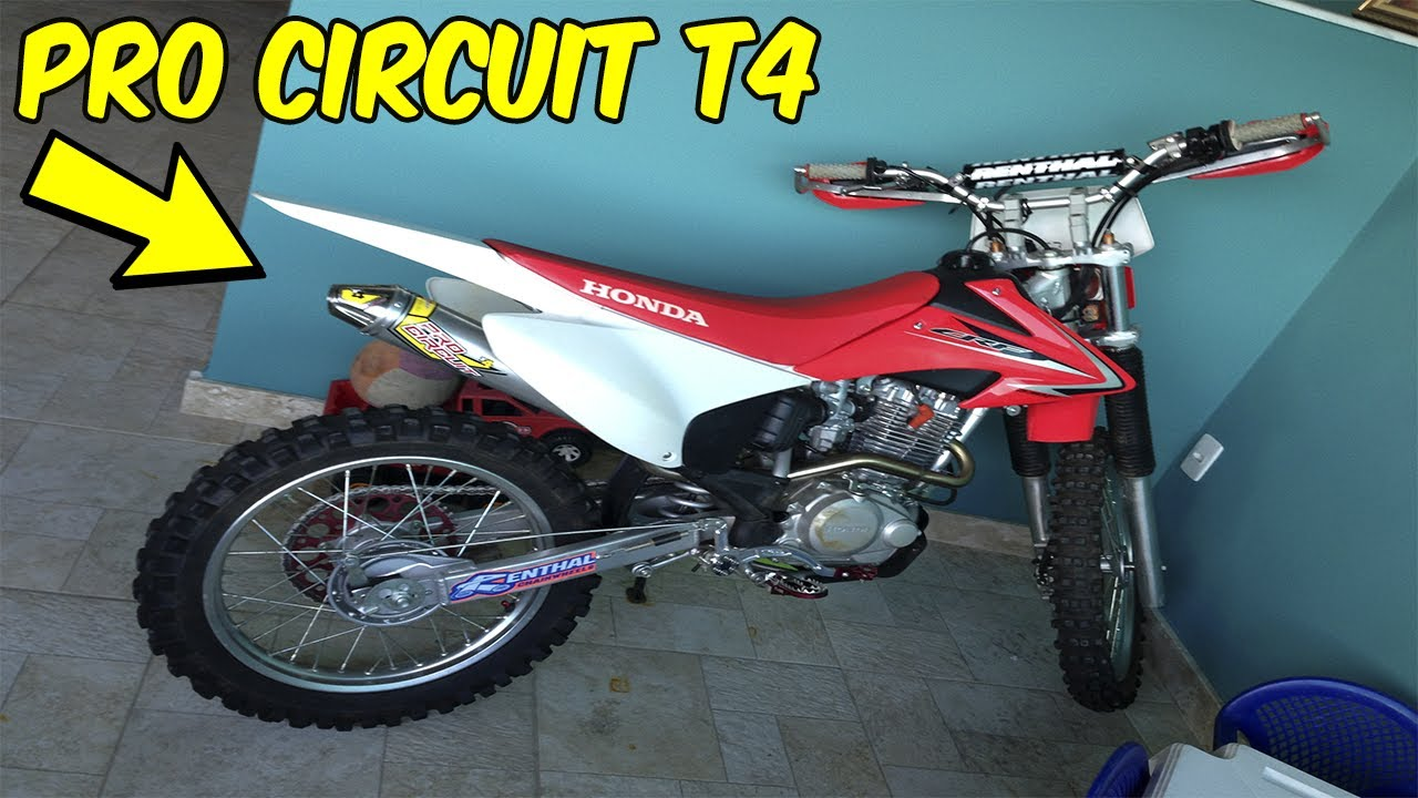 ESCAPAMENTO - Pro Circuit T4 CRF230F ( Exhaust System sound test )