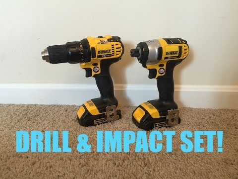 New DEWALT 20V Drill & Impact Driver Set!