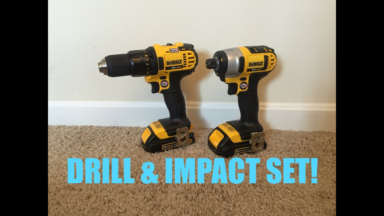 New DEWALT 20V Drill & Impact Driver Set! - YouTube