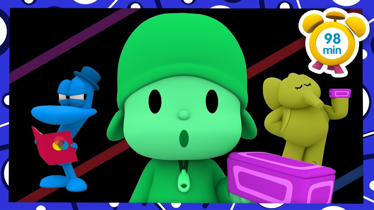 🎨 POCOYO in ENGLISH – Learn colors [ 98 minutes ] | Full Episodes | VIDEOS and CARTOONS for KIDS