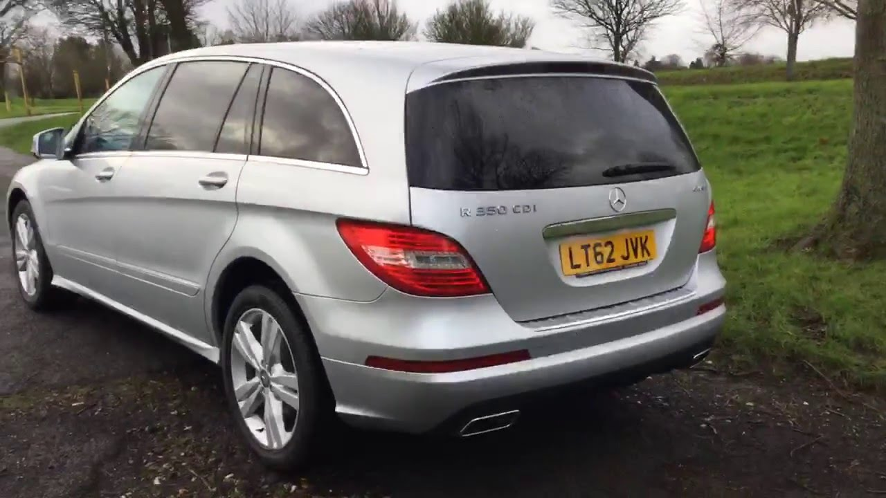 Silver mercedes r350 cdi turbo diesel 4matic 4x4 4wd 7 for Mercedes benz seven seater