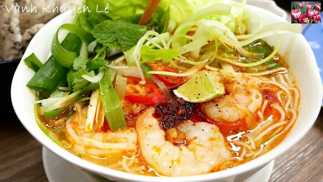 BÚN TÔM SA TẾ – Cách nấu Bún Tôm thơm ngon ngọt nước dễ dàng nhanh gọn đãi Khách by Vanh Khuyen