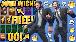 "*NEW* Leaked ""John Wick"" Fortnite Skin Showcase With All Leaked Dance Emotes..! (Fortnite Leaks)"