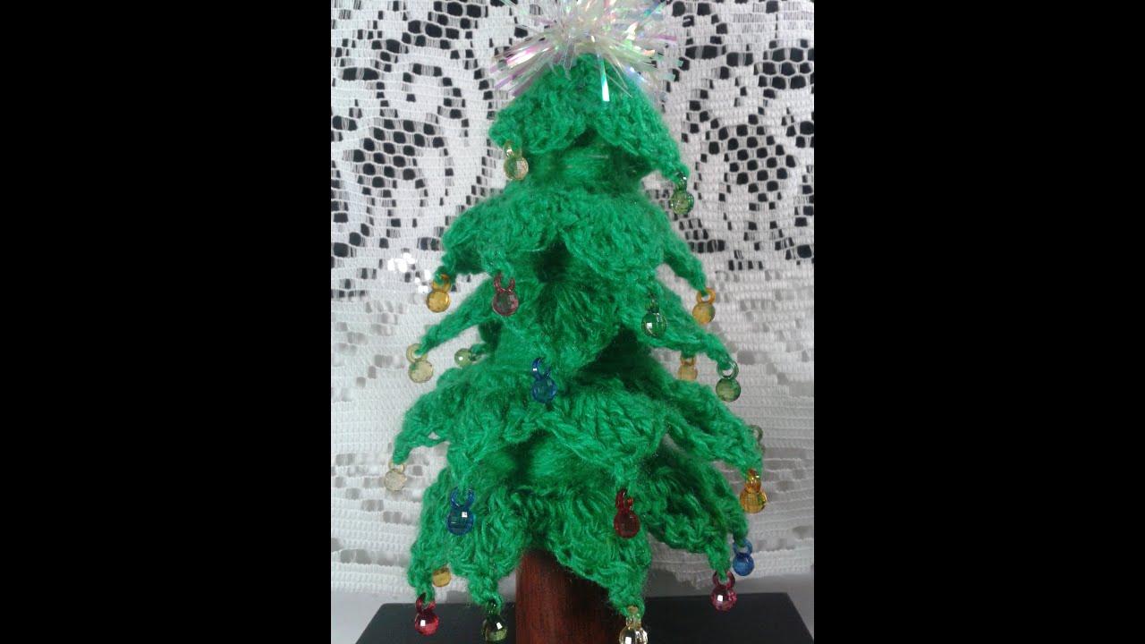 Como hacer un pinito de navidad tejido a crochet youtube - Manualidades de ganchillo para navidad ...