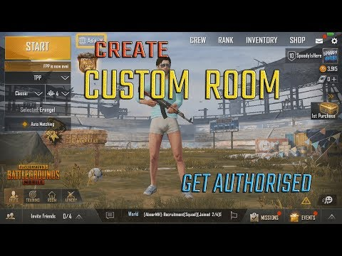 Create CUSTOM ROOM in PUBG MOBILE | Get AUTHORISED