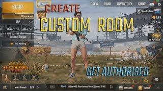 Create CUSTOM ROOM in PUBG MOBILE | Get AUTHORISED