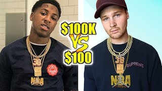 I Bought NBA YoungBoy's EXACT OUTFIT & CHAINS For CHEAP!! $100 Outfit VS $100k Outfit