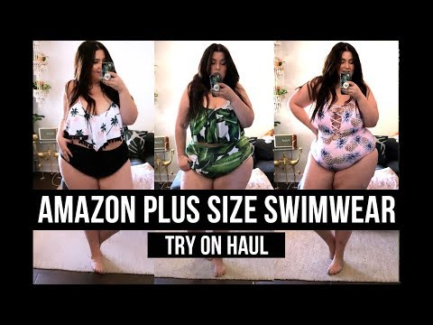 AMAZON PLUS SIZE SWIMSUIT TRY ON HAUL | Sometimes Glam