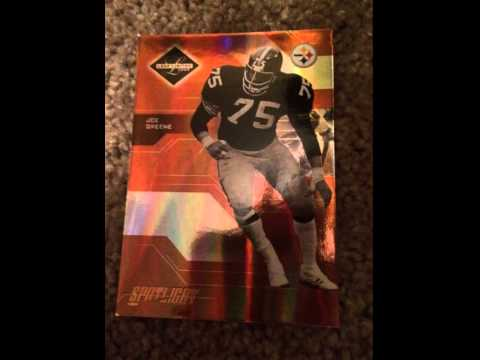 Mean Joe Greene  Football Card Mint Condition Serial #ered to 100 Gold Edition $4.00 Free Shipping