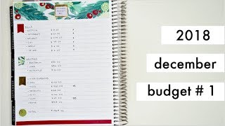 DECEMBER 2018 BI-WEEKLY BUDGET #1 | Paycheck to Paycheck