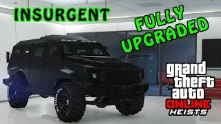 GTA Online Insurgent Fully Upgraded Gameplay! (GTA V Online Heists DLC)