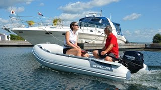 GALA Freestyle F300 with 9.8HP - 10' foldable inflatable boat with aluminium floor and keel