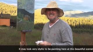 Jonny Andvik painting at Rauland, Telemark in Norway