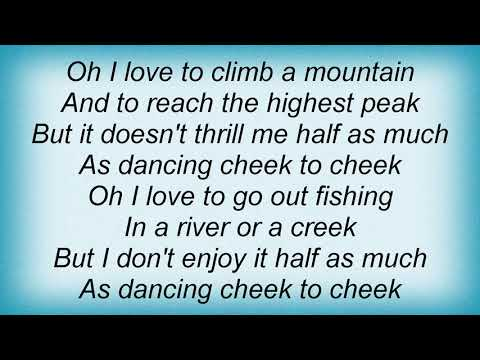 Billie Holiday - Cheek To Cheek Lyrics