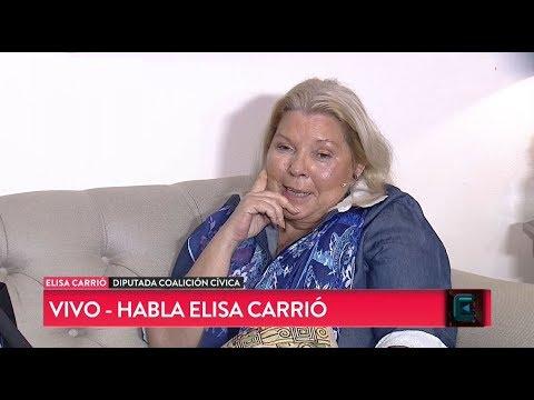 """""""Cristina va a terminar presa"""": Elisa Carrió en TN CENTRAL (14/09/2018)"""