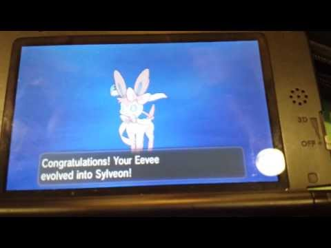 Pokemon X & Y - How I evolved my Eevee into Sylveon (2 Affection Method)