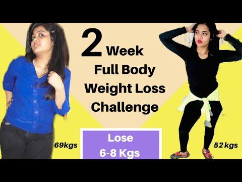 2 Week Full Body Weight Loss Challenge | Lose 6-8 Kgs Fast at home  | Somya Luhadia