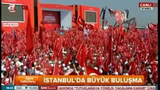2-Milyonlar Türkiyenin Yenikapisin Da Buluştu 5 Milyon Kişi Demokrasi için şehitler Mitingi7.8.2016