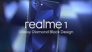 Realme 1:Glossy Diamond Black Design