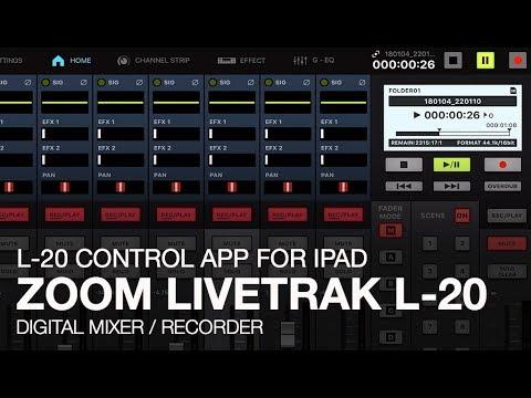 Zoom LiveTrak L-20: Control App for iPad