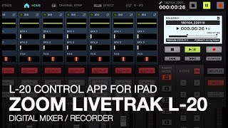 Zoom LiveTrak L-20: Control App for iPad