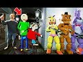 CAN THE ANIMATRONICS HIDE FROM BALDI'S BASICS PLAYTIME & THE PRINCIPAL? (GTA 5 Mods FNAF RedHatter)