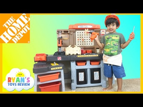 The Home Depot Pro Play Workshop and Utility Bench Step 2 Toys